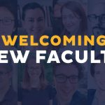 Image of text saying Welcoming new Faculty