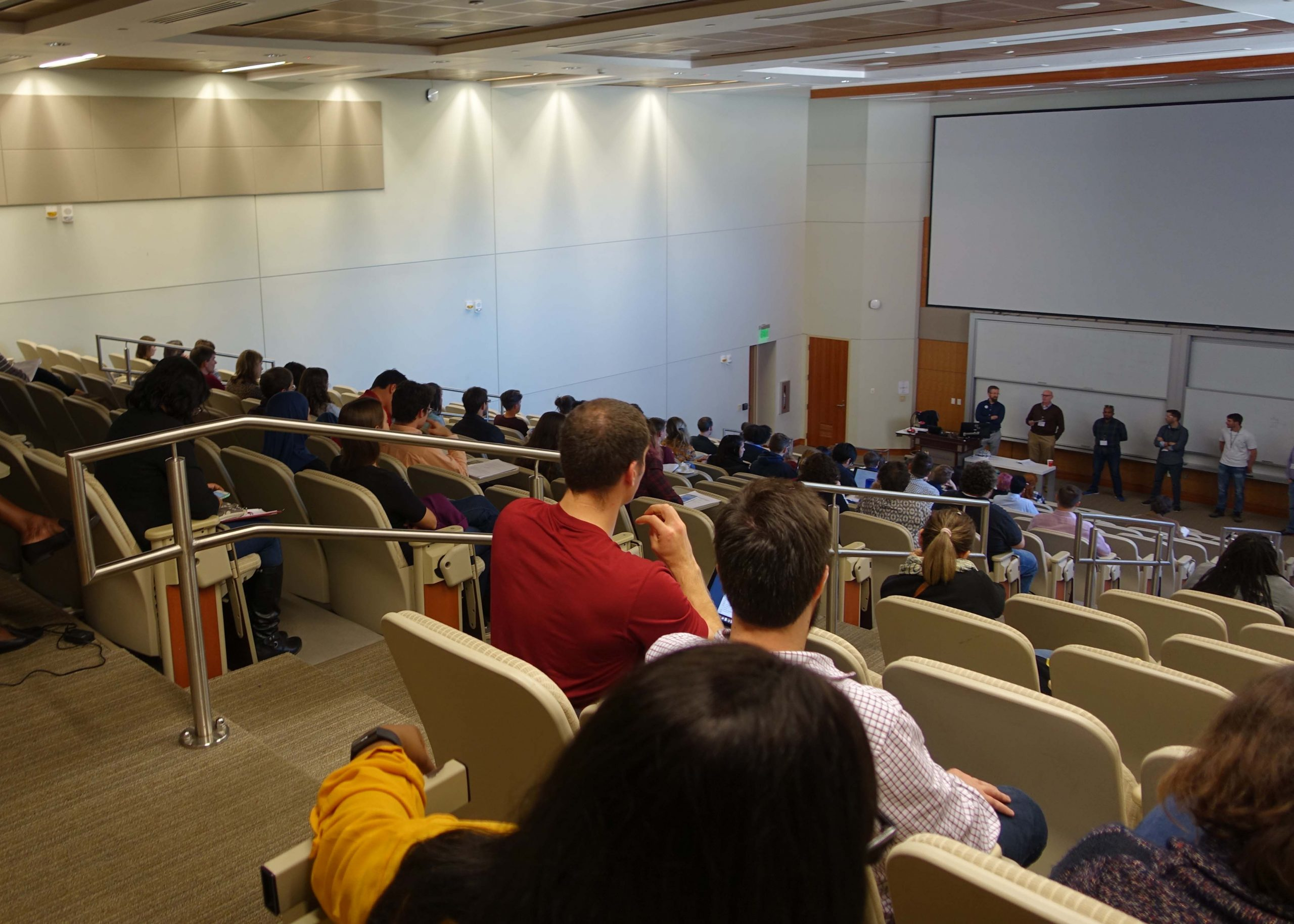 Conference attendees in auditorium