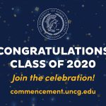 Image of text that says Congratulations class of 2020