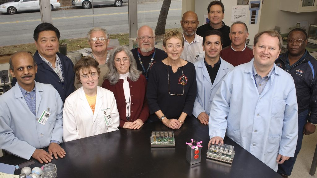 Group photo of NASA Scientists and Dean Kiss