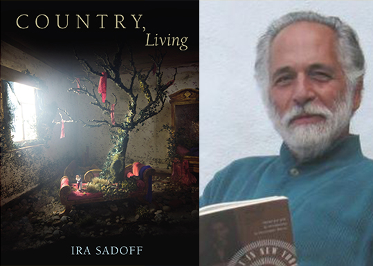 Book cover and Ira Sadoff reading book