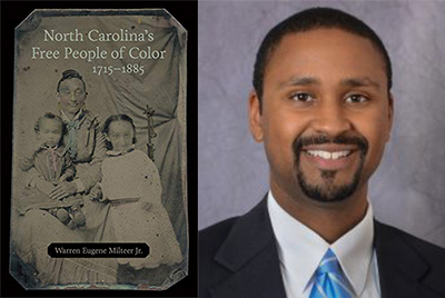 Book cover and headshot